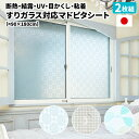 すりガラス対応マドピタシート[90×180cm・2枚]【日本製】(結露防止シート 寒さ対策 窓 断熱シート 窓 スリガラスシー…