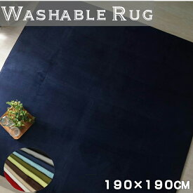 ラグ 洗濯できる さらさら無地のフランネルラグ 約190x190cm ノーマルタイプ こたつ敷 対応