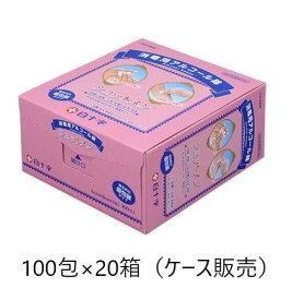 白十字 ショットメン アルコール綿 100包入×20 ケース販売 消毒 アルコール 個包装 携帯