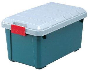 RV BOX(RVボックス)600ダークグリーン(RVボックス トランク アウトドア カーレジャー サブトランク カー用品 コンテナ ドライブ キャンプ 釣り ベランダ ストッカー アイリスオーヤマ)