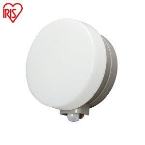 センサーライト 屋外 LED 防犯 防水 乾電池式LEDセンサーライト ウォールタイプ 丸型 BOS-WN1M-WS・BOS-WL1M-WS アイリスオーヤマ