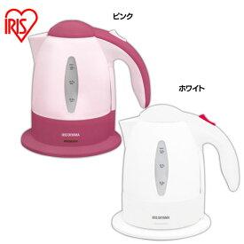 電気ケトル IKE-1001 ホワイト・ピンク アイリスオーヤマ