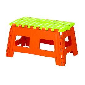 【D】カラーステップ《ワイドM》BLC-313 オレンジ・グリーン・イエロー クラスタースツール スツール 椅子 チェア 踏み台 折りたたみ ステップ 脚立 ポップ 可愛い かわいい カラフル コンパクト 【東谷】 【送料無料】 新生活