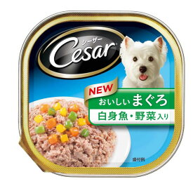 犬 フード シーザー トレイ おいしいまぐろ 白身魚 野菜入り 100g ウェット マースジャパン 【TC】