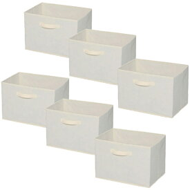 【6個セット】【カラーボックス用】インナーボックス 生成 FIB-38 アイリスオーヤマ カラーボックス用収納BOX 収納ボックス 収納用品 収納ケース 3個セット×2 新生活