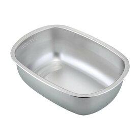 【洗い桶 ステンレス】ステンレス製の小判型洗い桶 足付【食器 シンクまわり】下村企販 30248【D】【SK】【RCP】