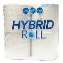 【処分特価】トイレットペーパー ハイブリッドロール 130m 4ロール ダブル 1903トイレットペーパー トイレットティッ…