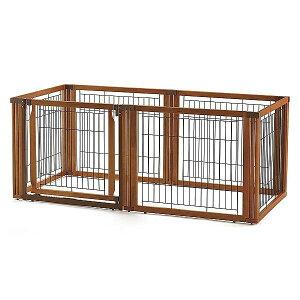 犬 ケージ サークル 木製 3WAYサークル 6面 70H中型犬 おしゃれ サークル ゲート 仕切り ハウス ゲージ ペットケージ 室内 屋外 しつけ 留守番 シンプル リッチェル