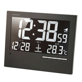 ウォール電波クロック ブラック AK-62送料無料 時計 ウォッチ 掛け時計 デジタル 掛時計 和風 電波 置き掛け兼用 置時計 アデッソ 【D】