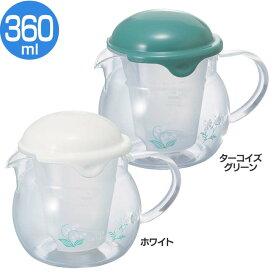 茶茶ポット CHY-36-Wポット お湯 ティータイム 片手で注げる お茶 HARIO ホワイト ターコイズグリーン【D】