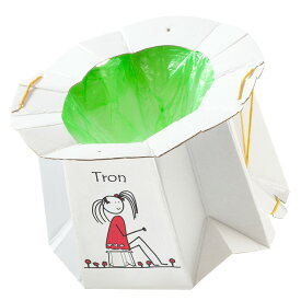 トロン 12420001携帯トイレ 段ボール リサイクル紙 旅行 お出かけ アウトドア 渋滞 災害時 非常用 子供用 ティーレックス 【D】【B】
