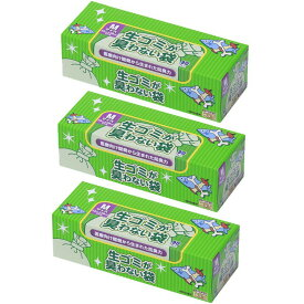 [3個セット] 臭わない袋BOS生ゴミ用箱型 (Mサイズ90枚入) ゴミ袋 キッチン用品 防臭袋 処理袋 衛生 ペット ビニール袋 使い捨て クリロン化成 【D】