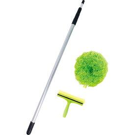 伸びる2wayロングモップ 92210送料無料 モップ ロング 軽量 外壁 掃除 マイクロファイバー ほこり取り 窓掃除 【D】【B】