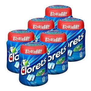 【6個】クロレッツXP クリアミントボトル 送料無料 モンデリーズ クロレッツ ガム ミント 大容量 お徳 ボトル 口臭 眠気 モンデリーズ 【D】