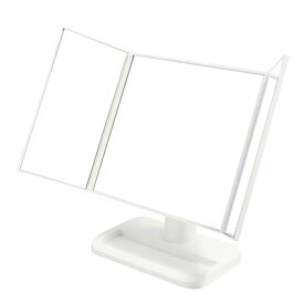 三面鏡メイクアップミラー NK-242 ホワイト