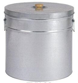 サンワ トタン丸型米びつ TMK-30 シルバー 30kg