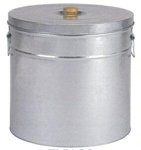 三和金属 トタン丸型米びつ TMK-30 シルバー 【米収納量30kg 直径37×高さ42.5cm】