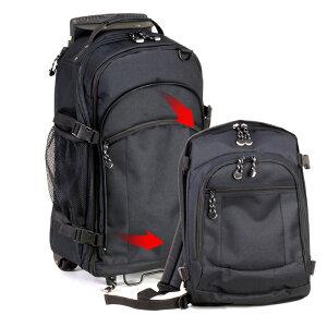 【送料無料】 リュックにもなるキャリーバック 平野鞄 リュックキャリー キャリーバッグ デイパック カート 旅行バッグ 黒 かばん カバン ボストンリュック 3WAY 大容量 リュックサック 旅行