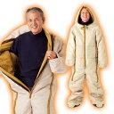 【★1000円OFFクーポン対象】【送料無料】 動けるあったか寝袋 人型寝袋 寝袋 人型 ホロファイバー 冬 防寒対策 冬用 …