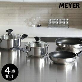 【新生活応援セット】マイヤー IH対応 鍋フライパン 4点セット ステンレス ME-4SS MEYERお返しに手作り料理