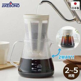 曙産業 TW-3728 コーヒーサーバーストロン2WAYドリッパーセット割れにくい 軽い プラスチック ペーパーレス 水出し食洗機 乾燥機対応