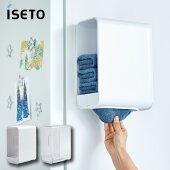 イセトータオルホルダーI-586タオルストック収納ラック棚トレースライド洗面所トイレお風呂バスルームキッチン冷蔵庫洗濯機マグネットネジ簡単取り付け便利日本製ISETO