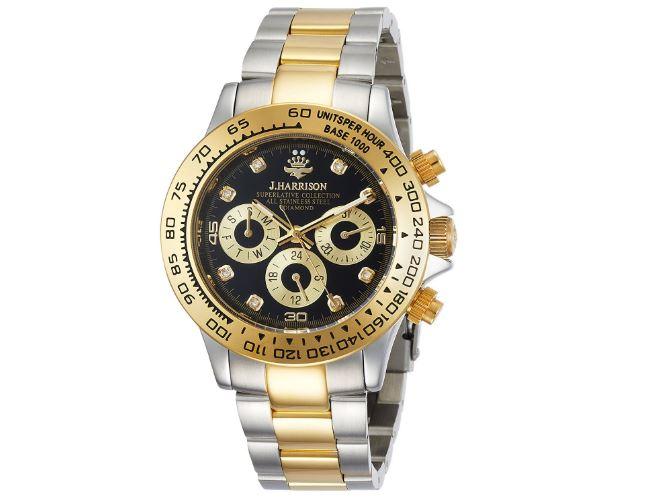 ジョン・ハリソン 腕時計8石天然ダイヤモンド付多機能自動巻&手巻き腕時計 JH-014DG メンズ 【送料無料】(※北海道・沖縄・離島除く) -【正規輸入品】【腕時計】【時計】【手巻き】J.harrison