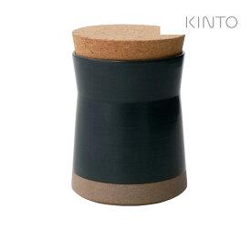 キントー KINTO セラミックラボ キャニスター 650ml ブラック KINTO 4963264509374 キャニスター 保存容器 コーヒー豆 グラノーラ スパイス 調味料 調味料入れ キッチン用品 テーブル キッチン 蓋付き 蓋 フタ コルク