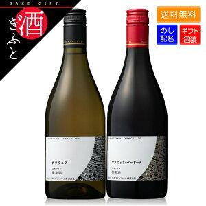 【お酒ギフト】 ワイン ギフト 熊本ワイン 紅白セット 化粧箱入り マスカットベリーA・デラウェア 各 720ml 12% お酒 お祝い 誕生日 贈り物 プレゼント のし ラッピング 日本ワイン 国産 赤ワ