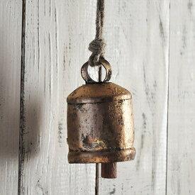 アンティーク ドアベル 真鍮 カウベルM/玄関ドア チャイム