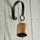 アンティーク 『ステー付きドアベル Cow』 真鍮 カウベル/玄関ドア チャイム
