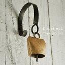 アンティーク 『ステー付きドアベル Swiss』 真鍮 カウベル/玄関ドア チャイム
