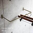 アイアン ウォールバー (ゴールド)Mサイズ / 壁 ハンガーラック 什器 店舗 ディスプレイ ドレス 衣料収納具 ハンガーかけ