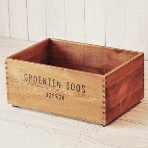 【予約販売】収納木箱『アンティーク風ウッドボックス1個』gd/ポテトボックスワイン木製箱/雑誌の整理本棚什器インテリアシェルフ通販