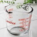 アンカーホッキング社 ガラス 計量カップ 500ml(500cc)・16oz/ メジャーカップ 強化耐熱ガラス製