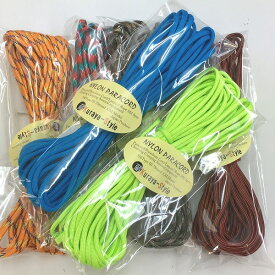 ◆パラコード550/10m◆全120カラー/カラー(21)〜(40)◆Pracord 550 7Strand 4mm◆Japan Produce◆