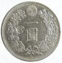 新1円銀貨(小型)丸銀打【丸銀左打】明治27年(1894)美品