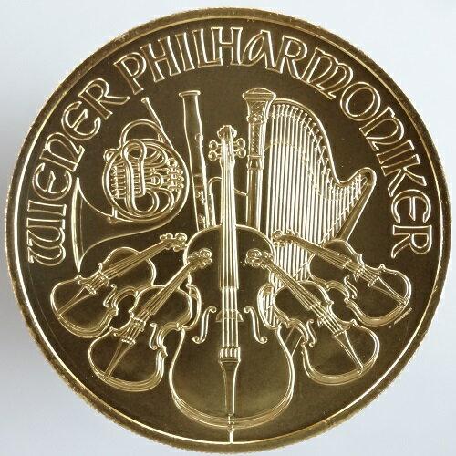 オーストリアウィーンフィルハーモニー100ユーロ金貨1オンス2014年 未使用