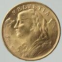 スイス 20フラン金貨 ブルネリ 1949年 未使用