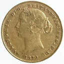 【送料無料】オーストラリア ソブリン金貨ヴィクトリア女王 1870年(sy)美品