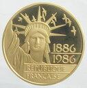 フランス 自由の女神 100フランプルーフ金貨 1986年 未使用
