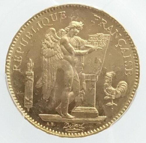フランスエンゼル 50フラン金貨 1904年-A PCGS鑑定【MS62+】