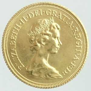 イギリスソブリン金貨エリザベス2世 月桂樹1981年