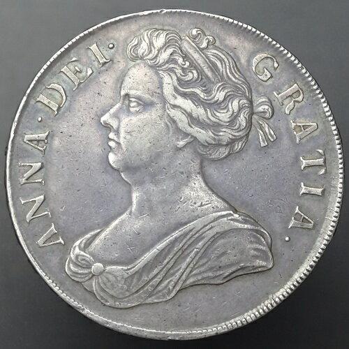 【送料無料】イギリス アン女王SEXTO クラウン銀貨 1707年
