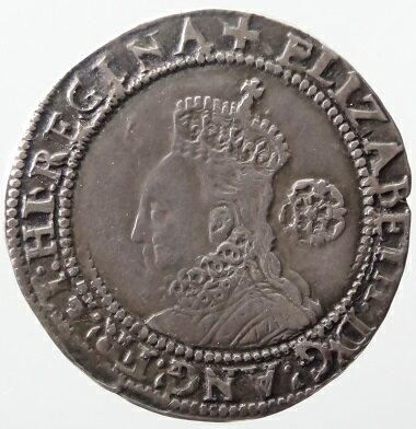 【送料・代引手数料無料】中世イギリス エリザベス1世 6ペンス銀貨 1578年 VF