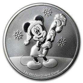 ディズニー銀貨 ミッキーマウス クリスマス2ドル銀貨 1オンス シルバー ニウエ 2020 未使用