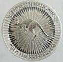 オーストラリア カンガルー 1ドル銀貨 2017年 未使用