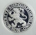 オランダ ライオンダラー プルーフウルトラカメオ 純銀1オンス 2017年 証明書付・箱入り Royal Dutch Mint