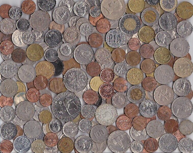 外国コイン いろいろお得なパック約700g入り!