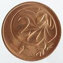 オーストラリア エリマキトカゲ 2セント銅貨 1984年 未使用